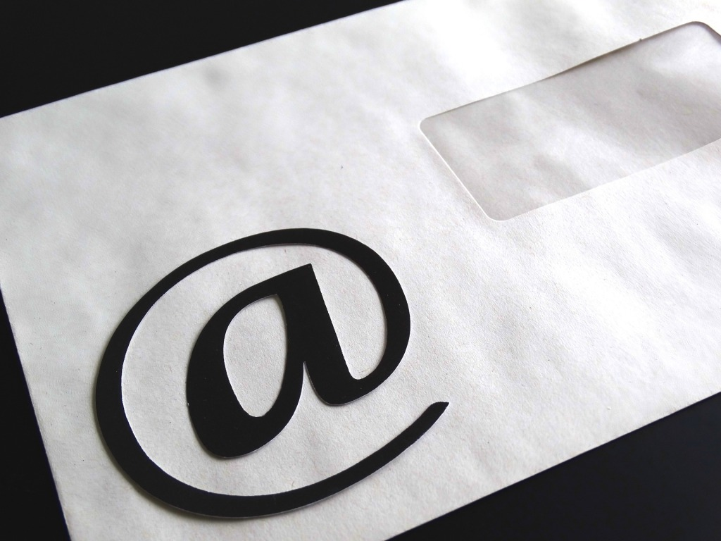 at symbol on an envelope, symbolizing email